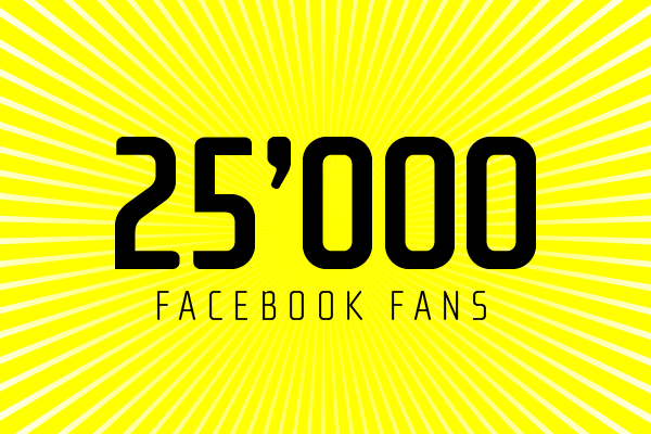 LooksLikeGoodDesign reaches 25'000 Facebook Fans